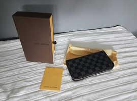 Woman's / Men's Zip Wallet LV Black Medium Wallet/Purse Monogram Brand New