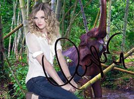 TAYLOR SWIFT Signed Star Photo Original Souvenir