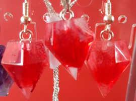 Handmade crystal jewelry set