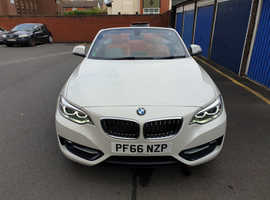 BMW 2 SERIES, 2016 (66) White Convertible, Manual Diesel, 25000 miles full BMW service history