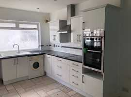 Built In Oven, Hob and Cooker Hood with Units, Worktops and Sink