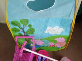Peppa Pig Play Tent, Pogo Stick, RC Car, Shopping Trolley Toys Bundle £10