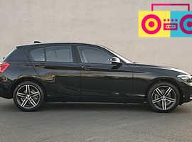 BMW 1 series, 2019 (19) Black Hatchback, Automatic Petrol, 3,200 miles