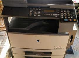 Konica Minolta bizhub 210 photocopier + 3 new toner bottles
