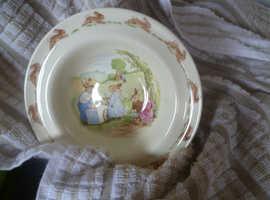 Bunnykins bowl and bank 1988 Royal Doulton