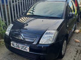 Citroen C2, 2006 (06) Black Hatchback, Manual Diesel, 103,000 miles
