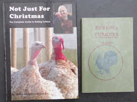 BREEDING TURKEYS -  2 x BOOKS  ABOUT KEEPING AND BREEDING - CHRISTMAS READING