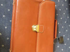 Leather briefcase unused