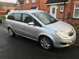 Vauxhall Zafira, 2008 (57) Silver MPV, Manual Diesel, 74,000 miles