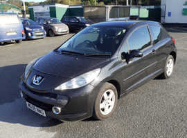 Peugeot 207, 2008 (08) Black Hatchback, Manual Petrol, 97,000 miles