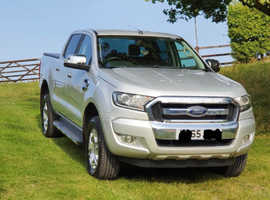 Ford Ranger, 2016 (65) grey 4x4, Manual Diesel, 62000 miles