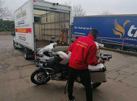 Best motorcycle transportation London. Since 2008