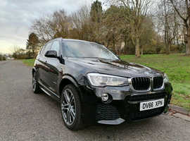 BMW X3, 2016 (66) Black Estate, Automatic Diesel, 38,658 miles