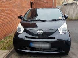 Toyota Iq, 2010 (60) Automatic. Black Hatchback, Cvt Petrol, 92,800 miles
