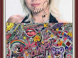 Miley Cyrus Extravaganza. Artwork. Collage. Gift. Souvenir. Memorabilia. Rarity. NEW!