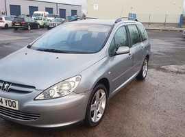 Peugeot 307, 2004 (54) Grey Estate, Manual Petrol, 103,000 miles
