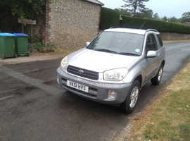 Toyota Rav4, 2002 (51) Silver Estate, Manual Petrol, 129,000 miles