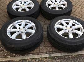 "BK RACING 16"" wheels with tyres"