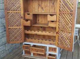 Absolutely stunning vintage original solid pine unit