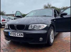 BMW 1 series, 2005 (05) Black Hatchback, Manual Petrol, 100,274 miles