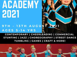 Summer Cheerleading and Dance Academy for children aged 5-14
