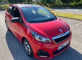Peugeot 108, 2015 (65) Red Hatchback, Manual Petrol, 46,000 miles FREE FROM ULEZ