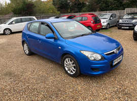 Hyundai i30, 2010 (59) Blue Hatchback, Manual Petrol, 98,857 miles