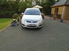 Vauxhall Zafira, 2008 (08) Silver MPV, Manual Diesel, 146,898 miles