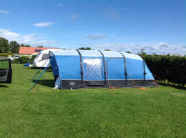 Vango Capri 400xl Airbeam tent with airbeam xl side awning and porch door