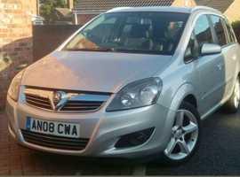 Vauxhall Zafira, 2008 (08) Silver MPV, Manual Diesel, 92,000 miles