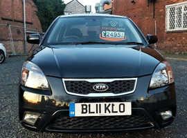 Kia Rio, 2011 (11) Black Hatchback, Manual Petrol, 37,000 miles