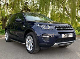 £99deposit&£314pcm, Land Rover DISCOVERY SPORT, 2016 (16) Blue Estate, Automatic Diesel, 84,000 miles