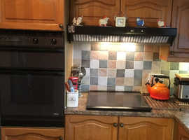 Solid oak kitchen with built in appliances good condition