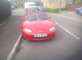 Mazda MX-5, 2002 (02) Red Convertible, Manual Petrol, 115,000 miles