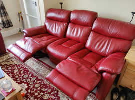 3 seater part leather sofa free.