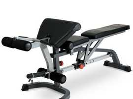 BodyMax CF330 Premium Weight Bench with leg and preacher curl attachments
