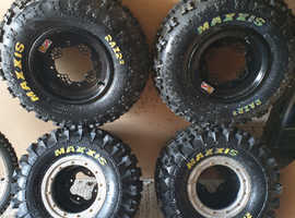Quad tyres and rims brand new and unused