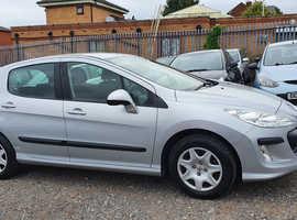 Peugeot 308, 2008 (57) Silver Hatchback, Manual Petrol, 54,000 miles