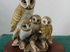 FAMILY OF BARN OWLS - THE LEONARDO COLLECTION ORNAMENT