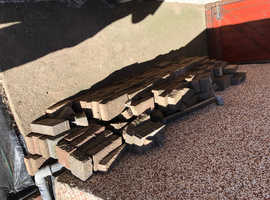 Block paving slabs and flags