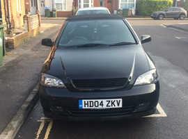 Vauxhall Astra, 2004 (04) Black Convertible, Manual Petrol, 140,688 miles