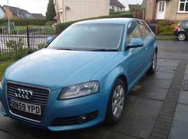 Audi A3, 2009 (59) Blue Hatchback, Manual Diesel, 138,331 miles