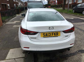 Mazda MAZDA 6, 2013 (13) White Saloon, Manual Diesel, 97,000 miles