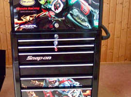 SNAP ON SPECIAL EDITION TOOLBOX AND CABINET AS NEW