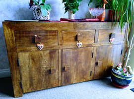 Mango dark wood large sideboard