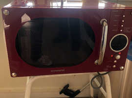 FREE Red microwave excellent condition