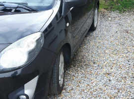 Renault Twingo, 2007 (57) Black Hatchback, Manual Petrol, 80,000 miles