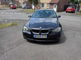 BMW 3 Series, 2008 (08) Black Saloon, Manual Diesel, 91,000 miles