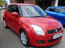 Suzuki Swift, 2009 (59) Red Hatchback, Manual Petrol, 93,000 miles
