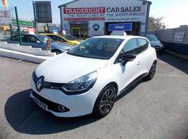 Renault Clio, 2014 (14) White Hatchback, Manual Diesel, 54,539 miles